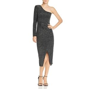 Bardot Womens One Shoulder Midi Dress